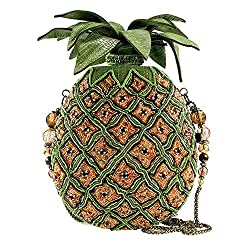 Pineapple Beaded Crossbody Handbag
