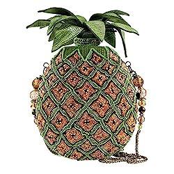 Pineapple Beaded Crossbody Handbag