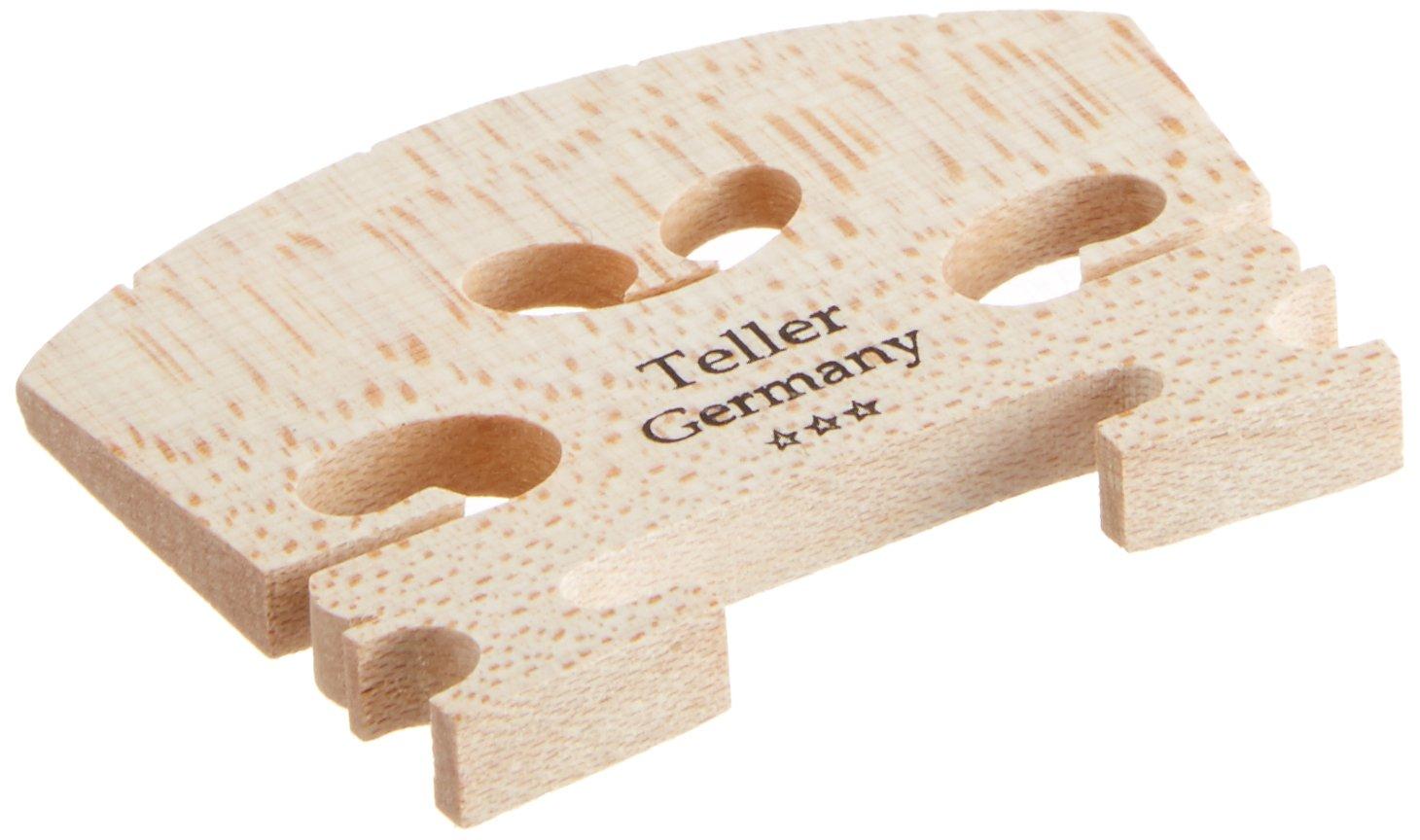 Josef Teller Aubert Ebony V Maple Violin Bridge - Low Action 4/4