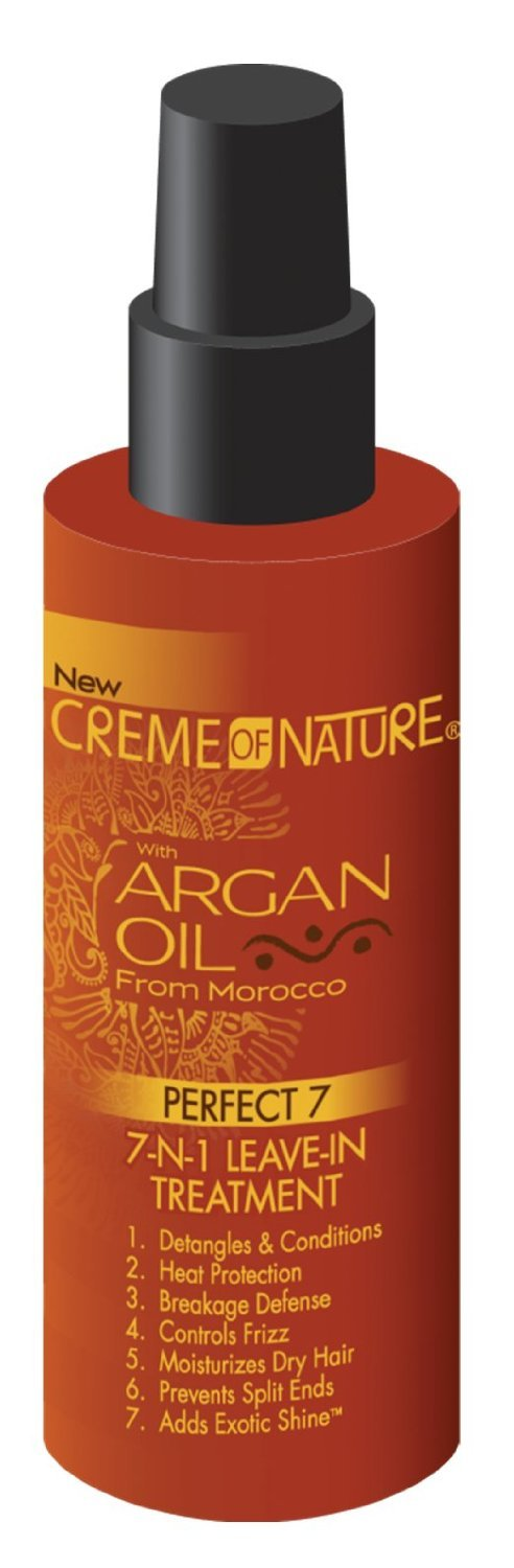 Creme Of Nature Argan Oil Leave-In 7-N-1 Treatment 4.23 Ounce (125ml) (2 Pack)