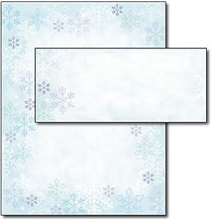 blue flakes letterhead u0026 envelopes 40 sets