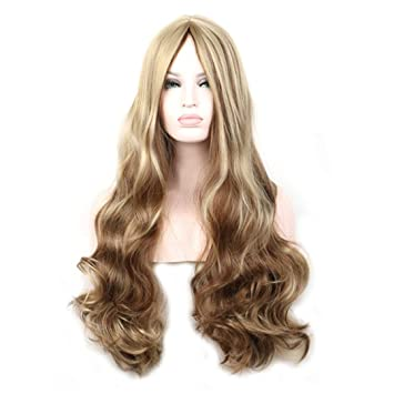 Amazon Com Mix Color Wigs For Women Blonde Brown Ombre Wig