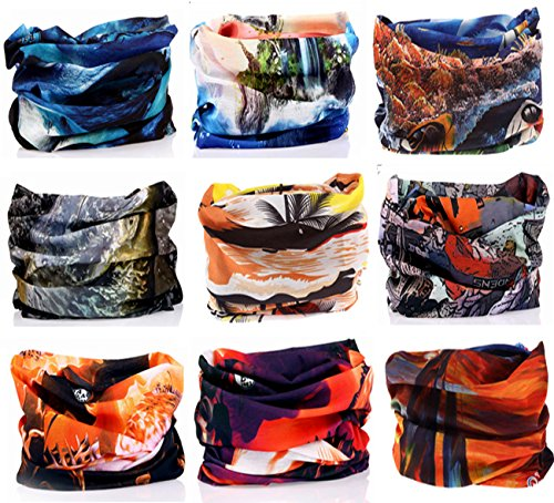 Headbands KINGREE 18PCS Outdoor Multifunctional Sports Magic Scarf High Elastic Magic Headband with UV Resistance Headscarves