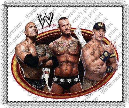 "8"" Round ~ WWE The Rock, Cena, CM Punk Birthday ~ Edible Image Cake/Cupcake Topper!!!"