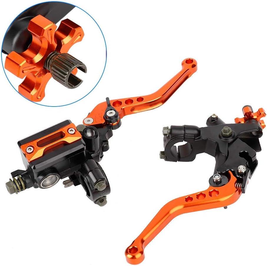 22 mm Orange 1 Paar 7//8 Suuonee Motorrad Bremshebel Universal Motorradgriff/öl Bremshebel Kupplungsgeberzylinder Reservoirhebel