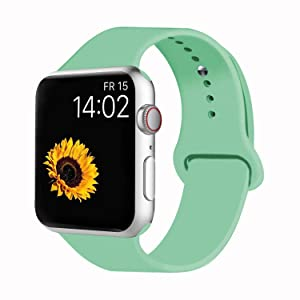 VATI Sport Band Compatible for Apple Watch Band 38mm 40mm 42mm 44mm, Soft Silicone Sport Strap Replacement Bands Compatible with 2018 iWatch Apple Watch Series 4/3/2/1, Sport, Nike+, Edition