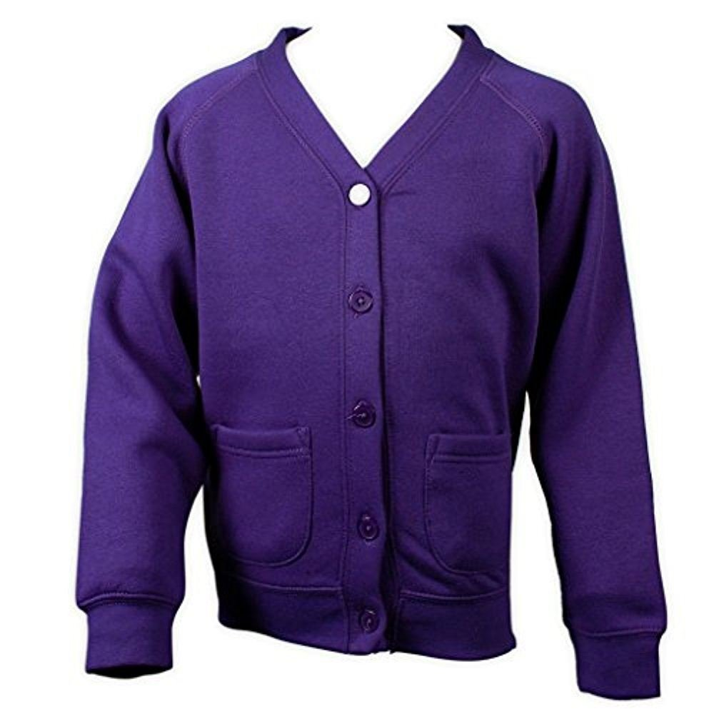 adam /& eesa Girls Boys School Cardigan Fleece Sweatshirt Uniform Schoolwear Age 3-13 in 12 Colours