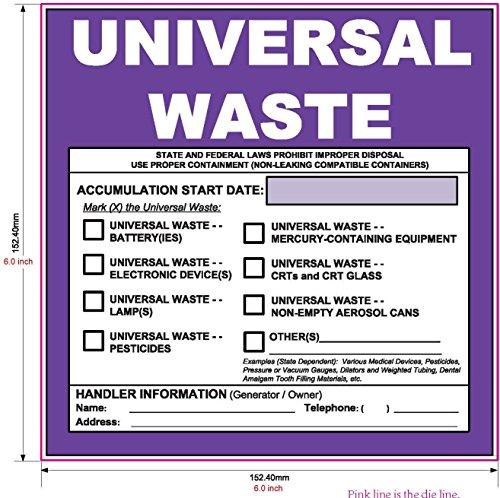 New Updated Universal Waste Label 6