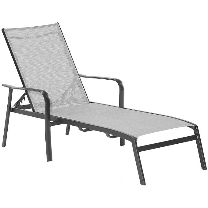 Amazon.com: Hanover Foxhill - Silla de aluminio para chaise ...