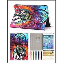 iPad Mini 1/2/3 Case, Dteck(TM) Ultra Slim PU Leather Flip Smart Stand Case Cover with [Auto Wake/Sleep] for Apple iPad Mini 3/ 2/ 1 (02 Colorful Wind Bell)