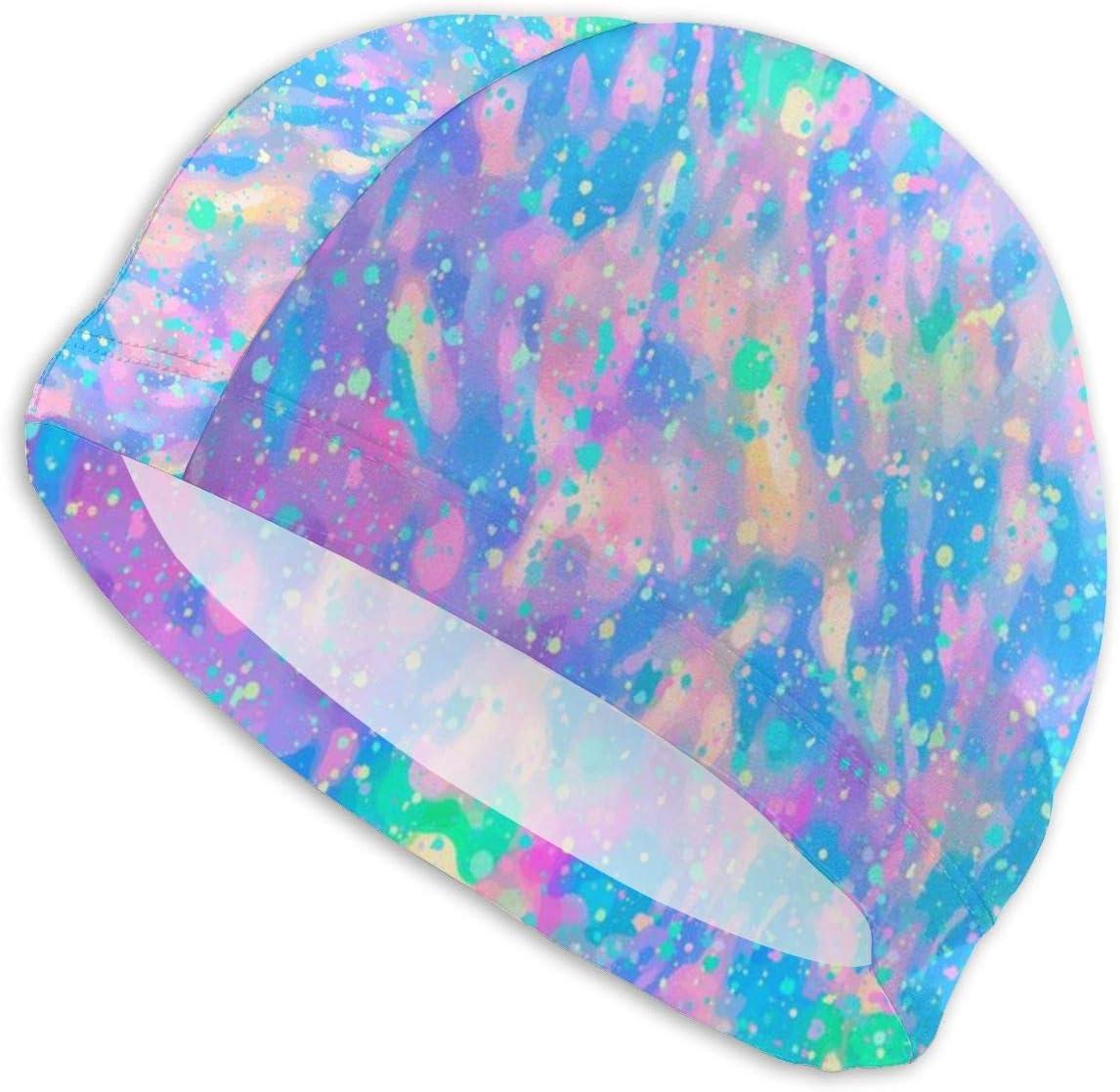 Harley Dulles Gorro de baño Sombrero Opal Fondo de Piedras Preciosas Gorro de baño Moderno/Gorro de Ducha Diseñado para Cabello Largo