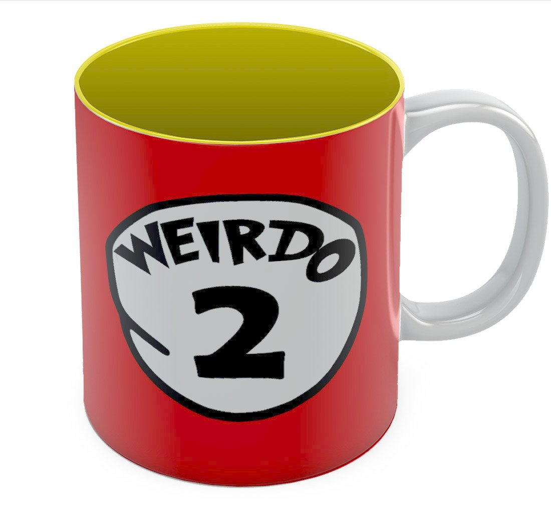 Tstars - Weirdo 2 - Matching Couple Gift - Funny Ceramic Tea Coffee Mug 11 Oz. Blue GtrPrMgWWwP0Ww9ll6F