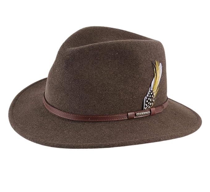 Stetson - Sombrero Fedora Plegable Hombre Traveller VitaFelt Mix  Amazon.es   Ropa y accesorios 49b1c5df2d2