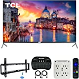 TCL 55R625 55-inch 6-Series 4K QLED UHD HDR Roku Smart TV (2019 Model) Bundle with 37-70-inch Low Profile Wall Mount Kit, Dec