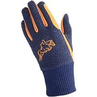 Hy5 Children/Kids Winter Two Tone Riding Gloves (L) (Navy/Orange)