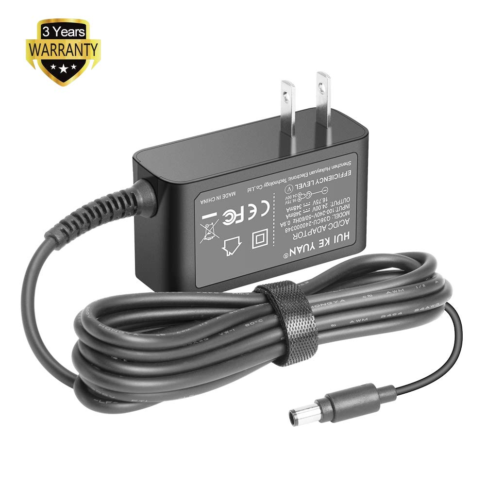 HKY 24V Ac Dc Adapter Charger Compatible with Dyson Animal Vacuum Handheld Vacuum Cleaner DC30 DC31 DC30 DC34 DC35 DC44 DC45 DC56 DC57 PN:917530-01 917530-02 917530-11 17530-02 Power Supply Cord Cable