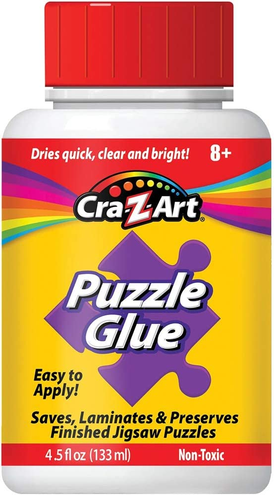 Jigsaw Puzzle Glue with Applicator - Saves, Laminates and Preserves Finished Jigsaw Puzzles - Easy to Apply, Dries Quick, Clear & Bright: Arts, Crafts & Sewing