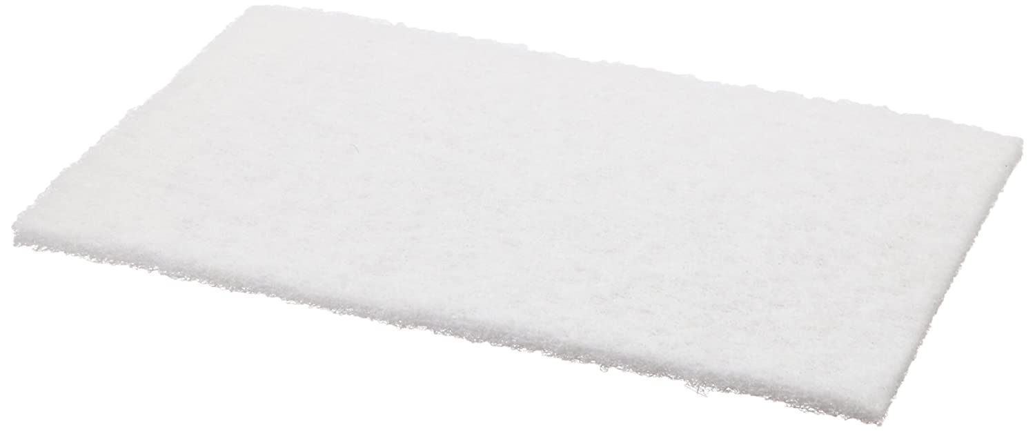 Scotch-Brite(TM) Light Cleansing Pad 7445, Aluminum Silicate, 9' Length x 6' Width, White (Pack of 20) 9 Length x 6 Width 3M HP-HP