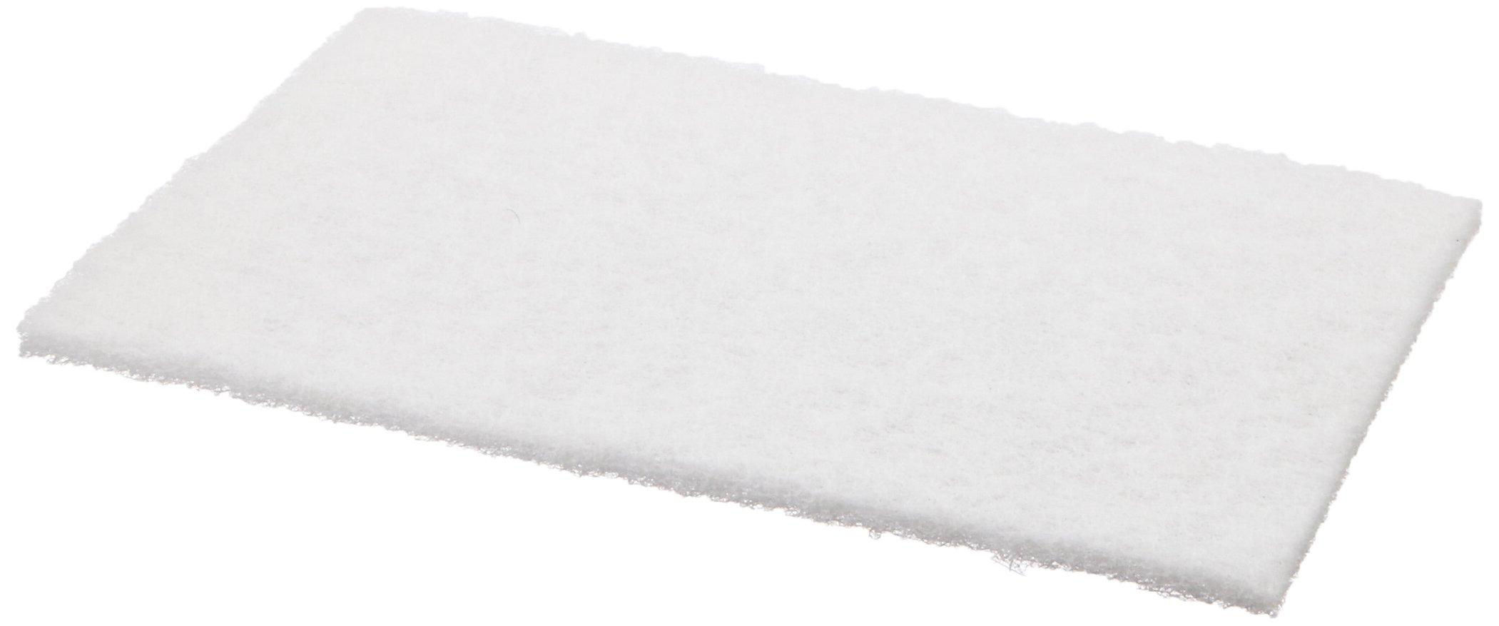 Scotch-Brite(TM) Light Cleansing Pad 7445, Aluminum Silicate, 9'' Length x 6'' Width, White  (Pack of 20)