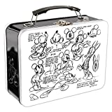 Vandor 89170 Disney Mickey Mouse Sketch Large Tin Tote, 9 x 3.5 x 7.5 Inches