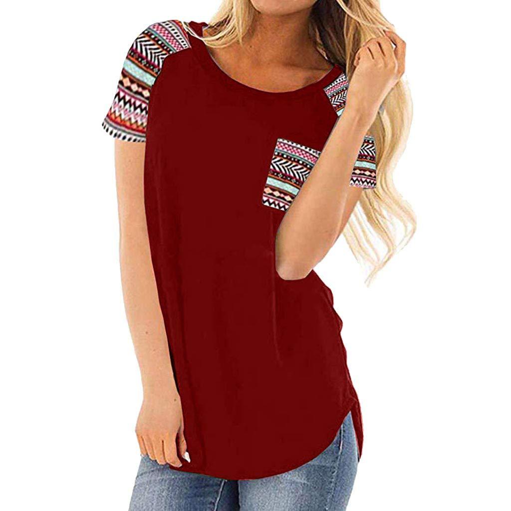 Mujer Ropa, Wave166 Camisetas Pullover Casual Mujeres de Moda de ...