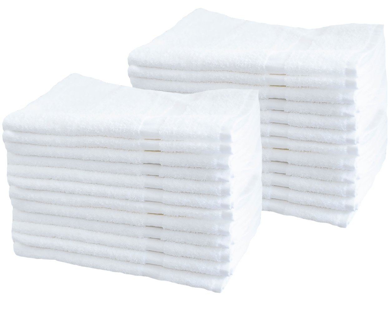 Cotton & Calm Exquisitely Soft Touch Hand Towels (24 Pack, 16 x 27 inches), White - Crafted for Home, Bath, Spa, Salon, Gym, Restaurant