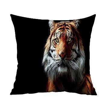 Amazon.com: Fundas de almohada, cabeza de tigre, cojines con ...