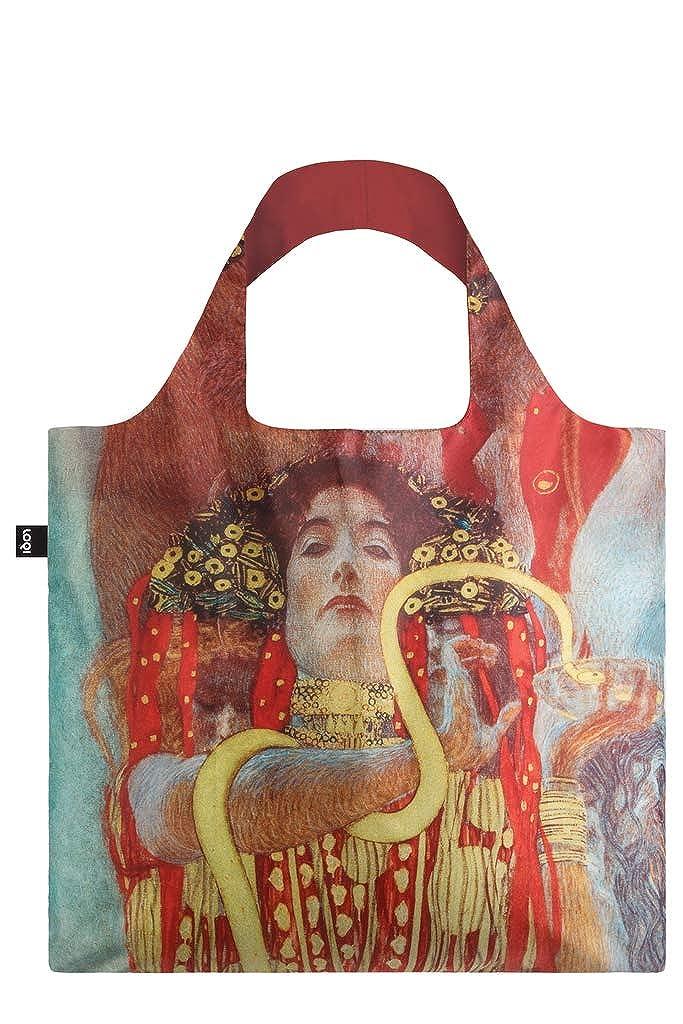 Hygieia Ich kann 20 kg tragen Bag: LOQI BAG: Ich wiege 55 g OEKO-TEX/® zertifiziert und aus Polyester. GUSTAV KLIMT Ich bin wasserabweisend und waschbar