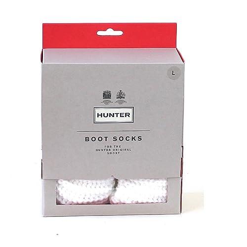 Hunter Woman Short Half Cardigan Boot Sock White: Amazon.es: Ropa y accesorios