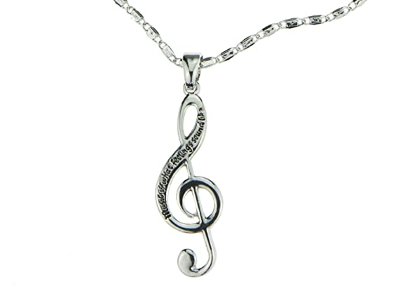 Amazon musical note necklace silver engraved music is what amazon musical note necklace silver engraved music is what feelings sound like treble clef charm pendant perfect gift for young musicians aloadofball Choice Image