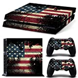 Cheap MATTAY PS4 Whole Body Vinyl Skin Sticker Decal Cover for Playstation 4 System Console and Controllers – The Flag of the United States