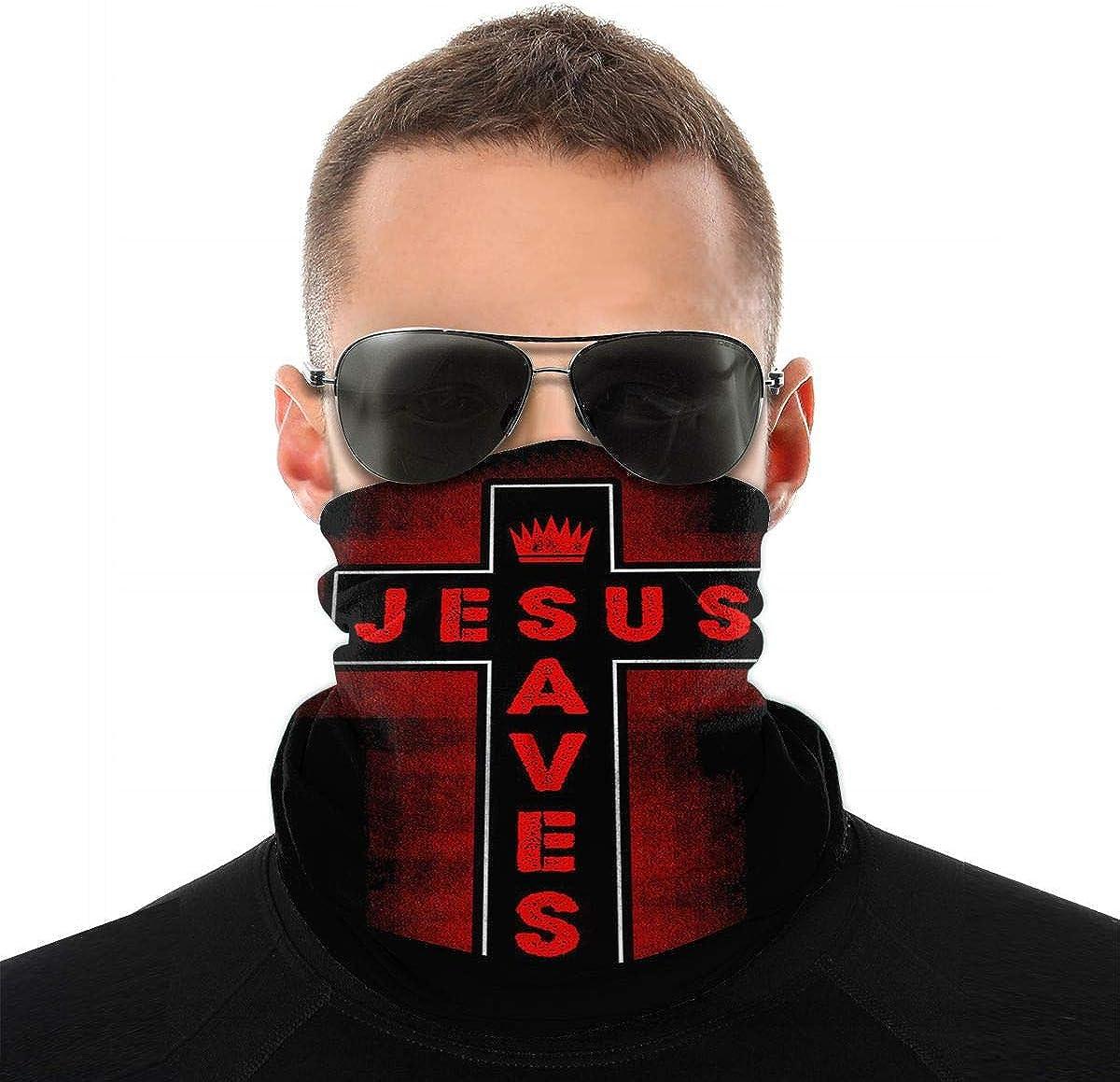 Christian Jesus Saves Men Women Neck Warmer Face Mask Bandanas Hat