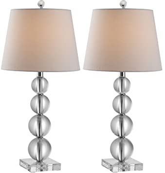 Captivating Safavieh Lighting Collection Millie Crystal Ball 26.5 Inch Table Lamp (Set  Of 2)