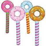 "New - 24"" Inflatable Lollipop Suckers Birthday donut holes Wonka CANDYLAND valentine -4Pcs"