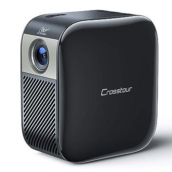 Mini Proyector Portátil Bolsillo Vídeo Proyector DLP Recargable,Crosstour Cine en Casa con Altavoz,Soporte 1080P Full HD Compatible con ...