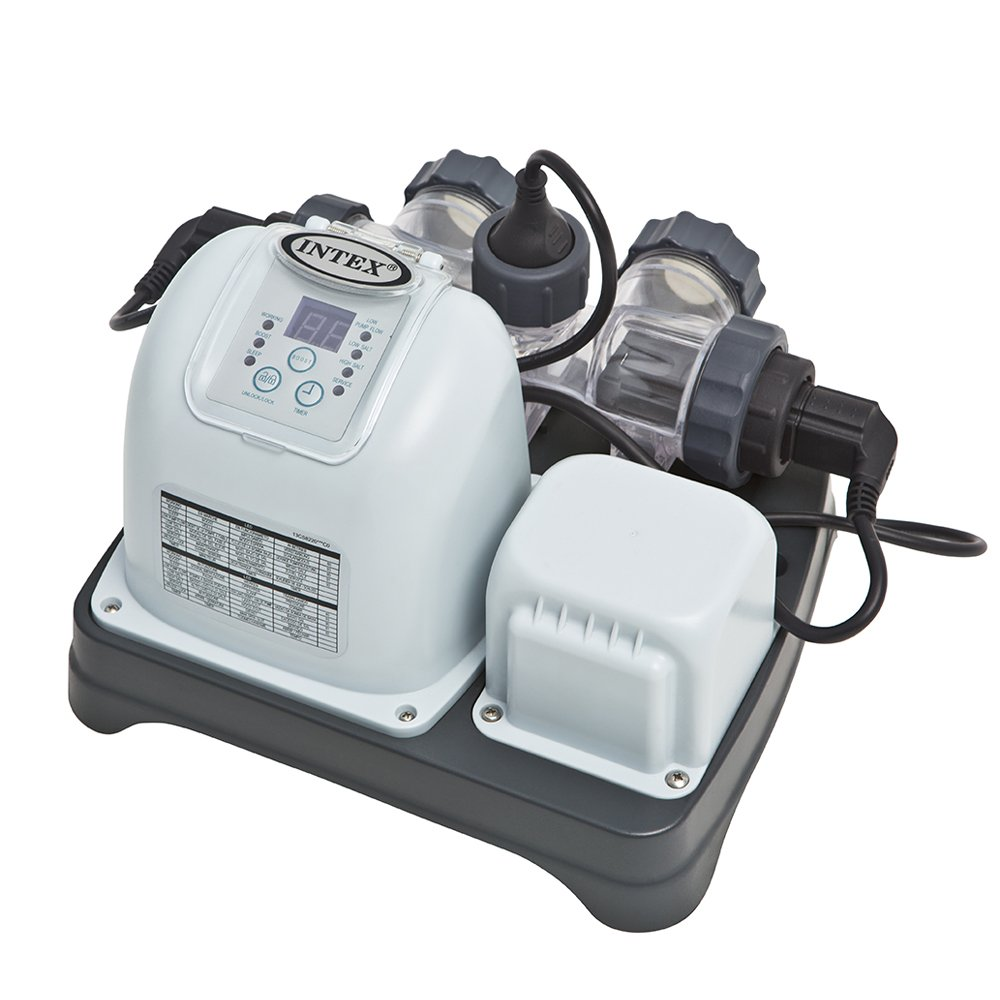 salt water pool systems. Amazon.com : Intex Krystal Clear Saltwater System With E.C.O. (Electrocatalytic Oxidation) For Up To 7000-Gallon Above Ground Pools, 110-120V GFCI Salt Water Pool Systems A
