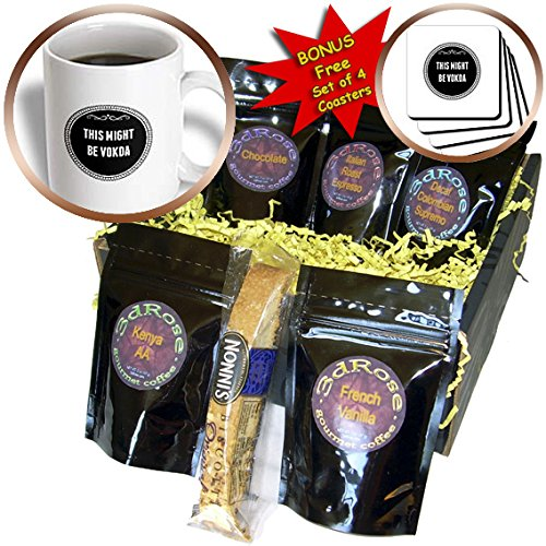 (BrooklynMeme Sayings - This might be vodka - Coffee Gift Baskets - Coffee Gift Basket)