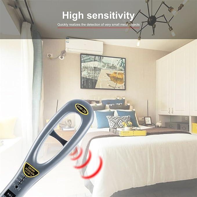 Detector de Metales Portàtil, de Mano de Alta Sensibilidad Detección de 360º para Inspección de Seguridad Zumbador Vibrar Subterràneo Examen Tùnel ...