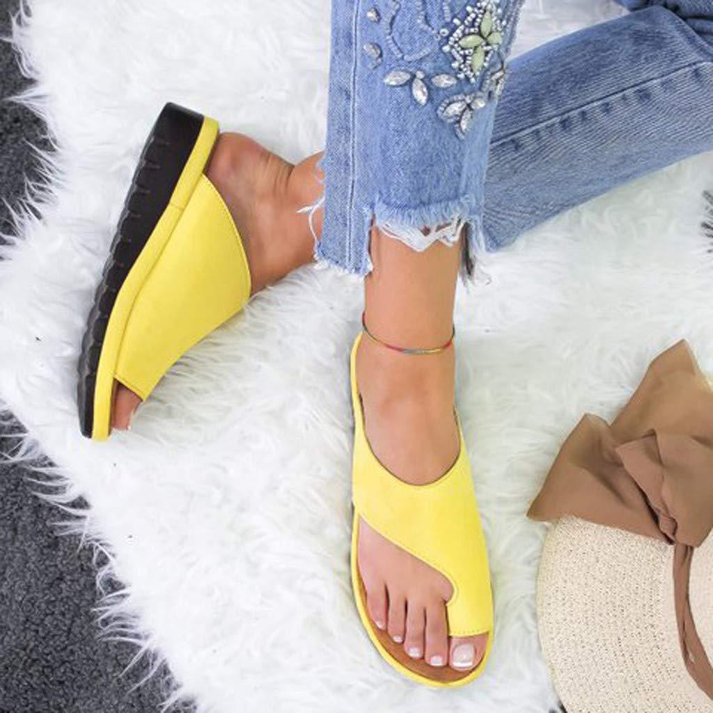 Amazon.com   Womens Fashion Flats Wedges Comfy Platform Sandal Shoes, Summer Open Toe Ankle Casual Shoes Roman Slippers Sandals Comfortable Ladies Shoes   ...
