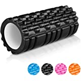 "ENKEEO Foam Roller 13"" X 6"" EVA with Grid Design Muscle Rollers for Deep Tissue Myofascial Release, Sports Massage and Recovery, Trigger Point Therapy, Pilates & Yoga ( Black / Blue / Orange / Pink )"