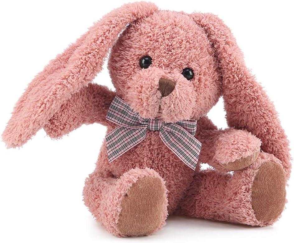 Blppldyci Rabbit Stuffed Animal Bunny Rabbit Plush Toy Floppy Long-Eared Red Rabbit Baskets for Christmas 12.5 inch