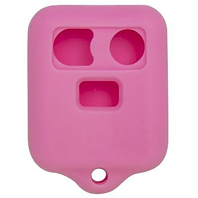 Keyless2Go New Silicone Cover Protective Case for Remote Key Fobs FCC CWTWB1U345 CWTWB1U331 GQ43VT11T - Pink: Automotive