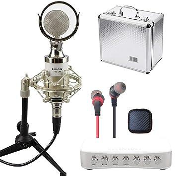 ZLC Micrófono, teléfono móvil micrófono de Condensador en Vivo ...
