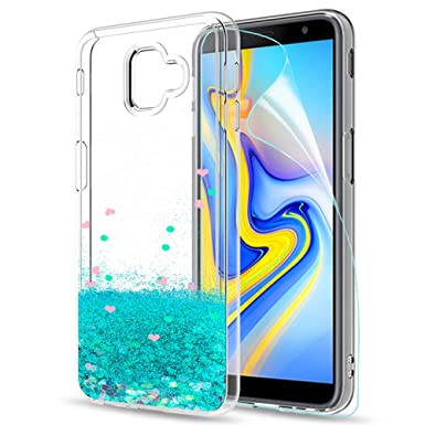 3ae968a83e LeYi Galaxy J6 Plus Case with Screen Protector, Girl Women 3D Glitter  Liquid Cute Luxury