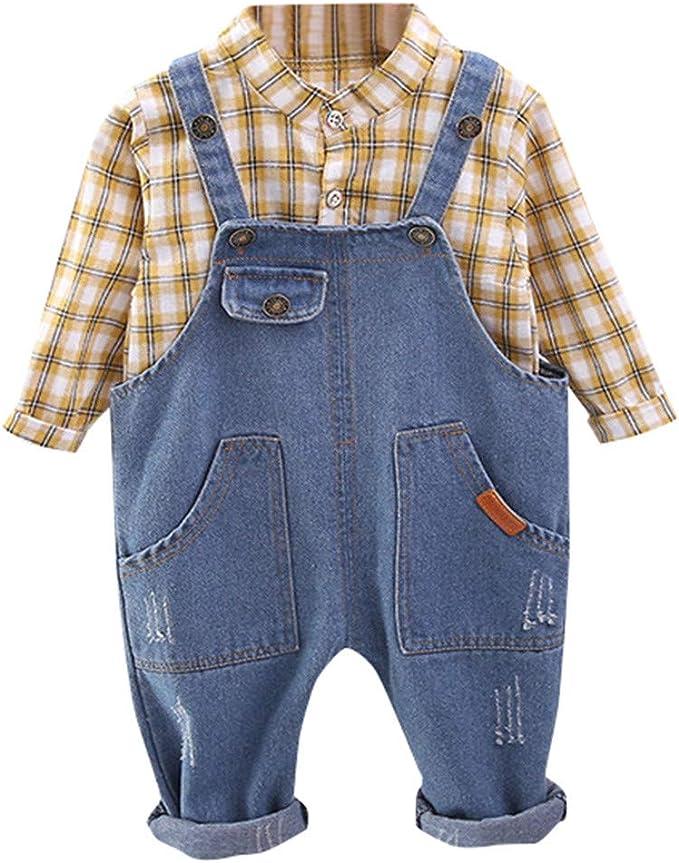 Squarex - Camisa a Cuadros para niños y bebés + Pantalones ...