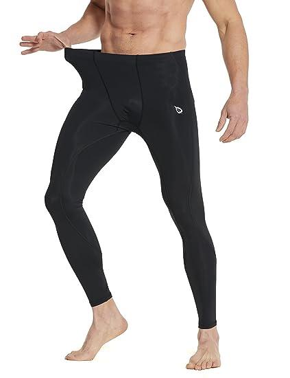 0497230782 Baleaf Men's Compression Pants Base Layer Tights for Running Training  Black/Black Size XL