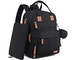 Diaper Bag Backpack, iniuniu Large Unisex Baby Bags for Boys Girls, Waterproof Travel Back Pack with Diaper Pouch, Washable C