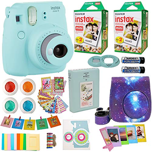Fujifilm Instax Mini 9 Camera + Fuji Instant Instax Film  In