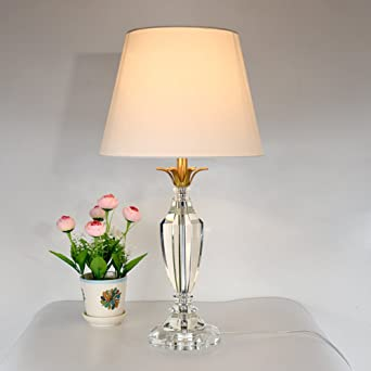 Simple Cristal Lámparas de mesa,Moderno Estilo europeo Dormitorio Lámpara mesita de noche Creativo Elegante Luz de lectura-B: Amazon.es: Iluminación