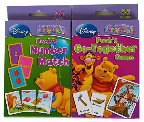 - Friends Set of 2 Winnie the Pooh Card Decks, Number Match and Go-together Game